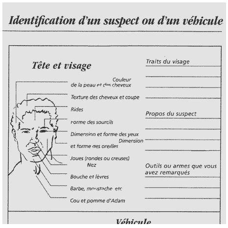 fiche suspect